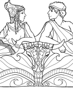 Theseus and Hippolyta Coloring Page