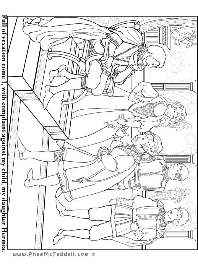 midummer nights dream coloring pages - photo#15