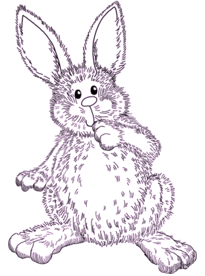easter bunnies to color. easter bunny pictures to color