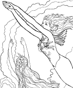 phee s coloring pages projects and drawings to color for all ages - Coloring Pages Mermaids Realistic
