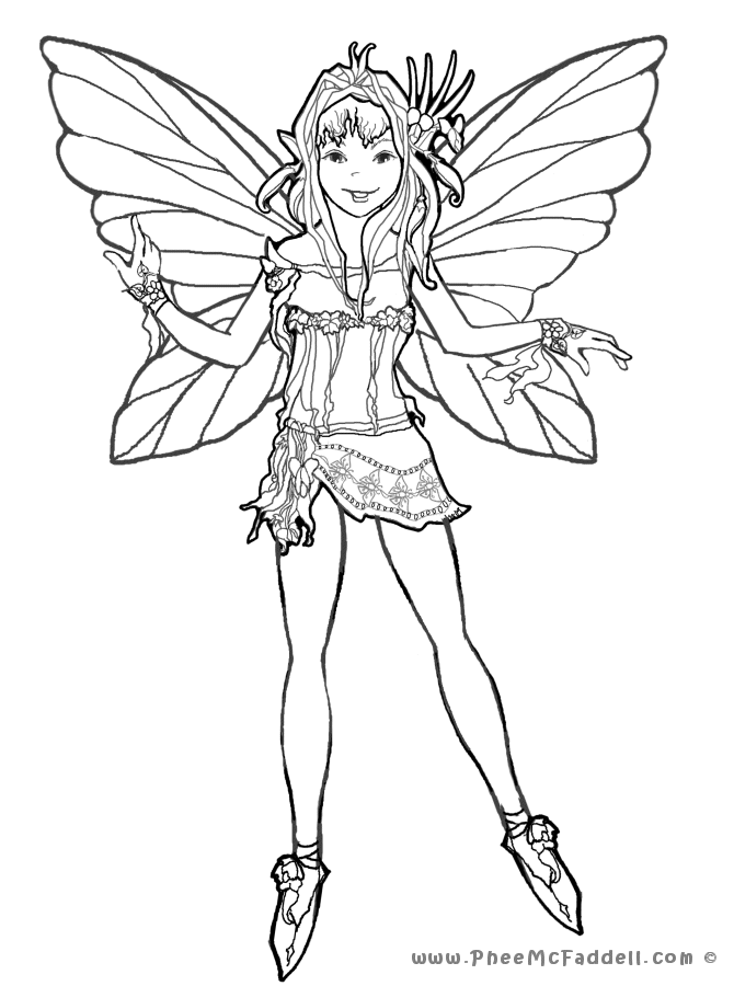 Peaseblossom Coloring Page