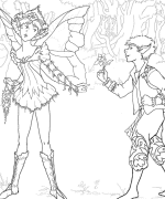 Get This Printable Fairy Coloring Pages Online 72656 ! | 180x150